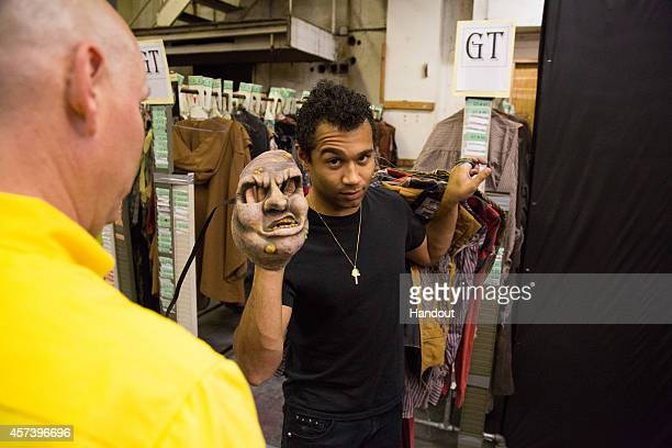 In this handout photo provided by Knott's Scary Farm Corbin Bleu to transforms into a gruesome Ghost Town monster at Knott's Scary Farm October 8...