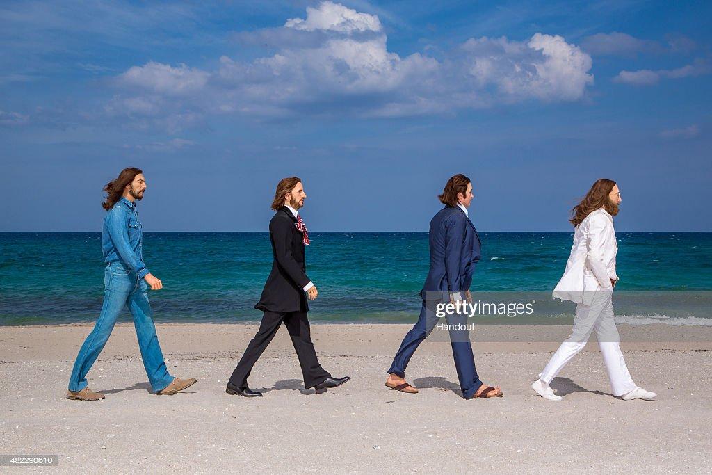 Madame Tussauds Orlando Welcomes Wax Figures Of The Beatles : News Photo