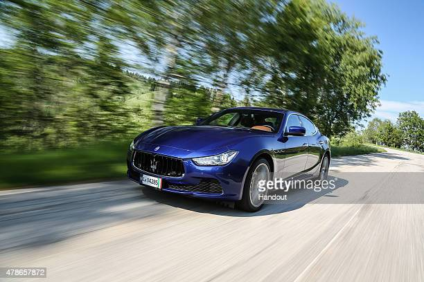 In this handout photo provided by Maserati Maserati Ghibli with Ermenegildo Zegna Interiors May 24 2015 in Trivero Italy New York Knicks basketball...