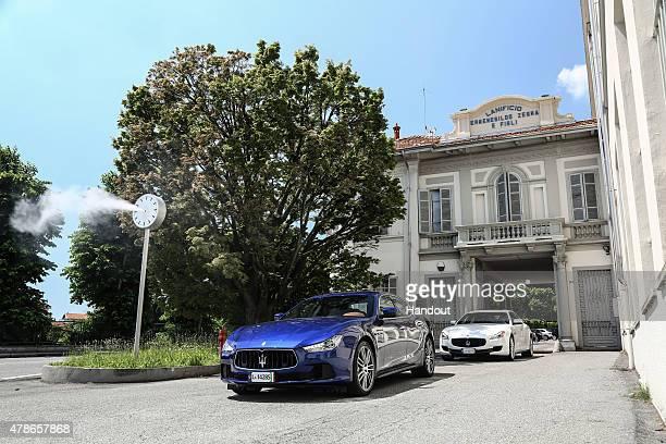 In this handout photo provided by Maserati Maseratis at Lanificio Zegna June 5 2015 Trivero Italy New York Knicks basketball player and NBA AllStar...