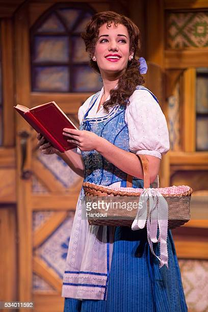 In this handout photo provided by Matthew Murphy/NETworks Brooke Quintana as Belle in Disney's Beauty and the Beast pictured here on September 22...