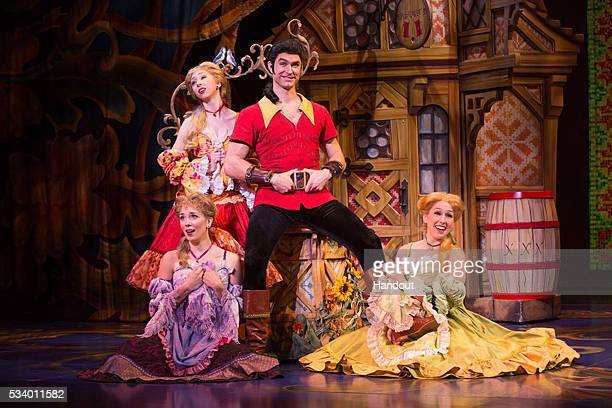 In this handout photo provided by Matthew Murphy/NETworks Christiaan SmithKotlarek as Gaston and the Silly Girls of Disneys Beauty and the Beast May...
