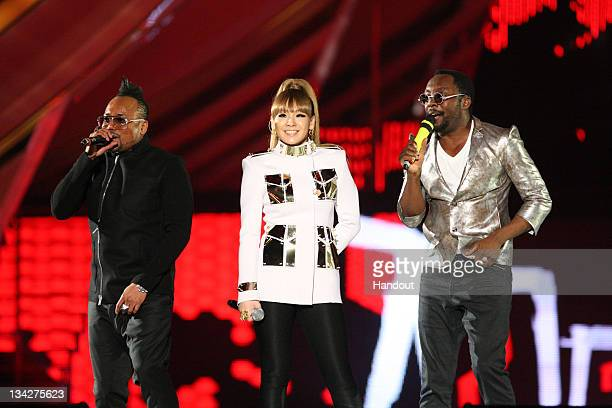 In this handout photo provided by Mnet Asian Music Awards apldeap CL from 2NE1 and William perform at the 2011 Mnet Asian Music Awards at the...