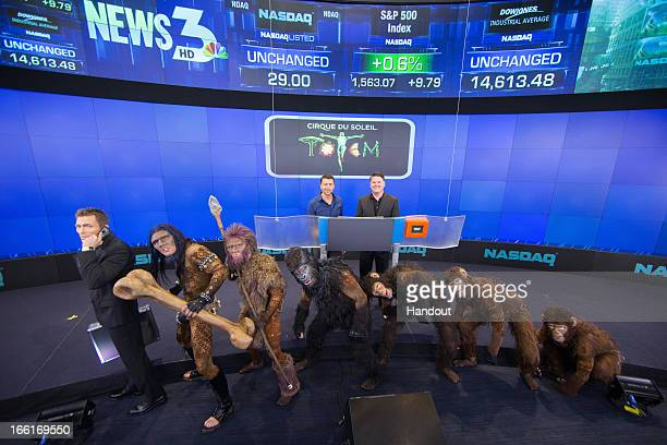 In this handout photo provided by NASDAQ the production's artistic director Tim Smith and the company manager of Cirque du Soleil's production...