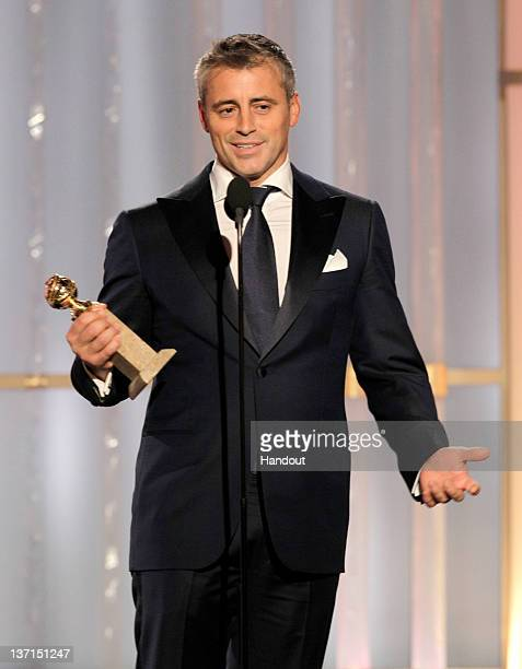 In this handout photo provided by NBC actor Matt LeBlanc accepts the award for Best Actor TV Series Comedy or Musical Episodes onstage during the...