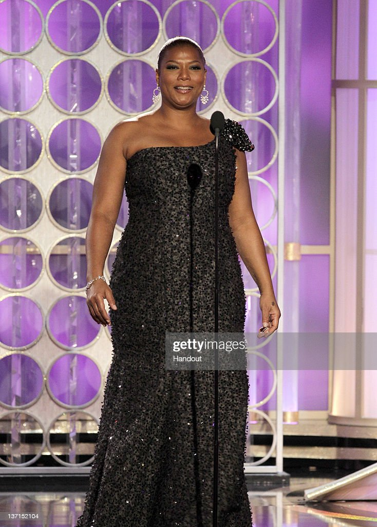 In this handout photo provided by NBC, actress Queen Latifah presents an award onstage during the 69th Annual Golden Globe Awards at the Beverly Hilton International Ballroom on January 15, 2012 in Beverly Hills, California.