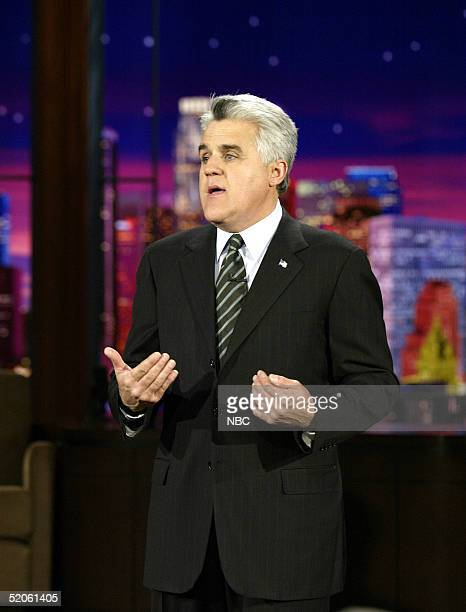 In this handout photo provided by NBC talk show host Jay Leno talks about the late Johhny Carson during a taping of The Tonight Show on January 25...