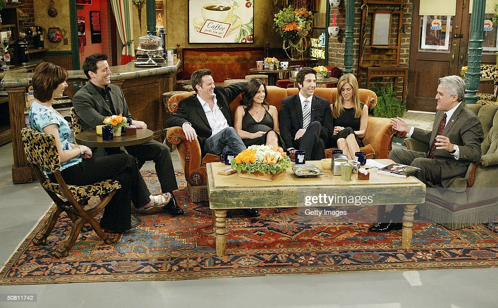 "Cast of ""Friends"" on the ""Tonight Show with Jay Leno"" : News Photo"