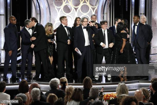 In this handout photo provided by NBCUniversal Kwame Parker Viggo Mortensen Nick Vallelonga Christina Simpkins Jim Burke Brian Hayes Currie Bob...
