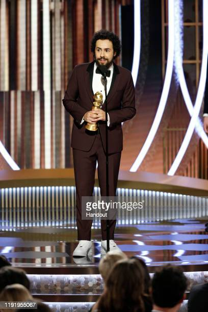 In this handout photo provided by NBCUniversal Media LLC Ramy Youssef accepts the award for BEST PERFORMANCE BY AN ACTOR IN A TELEVISION SERIES...