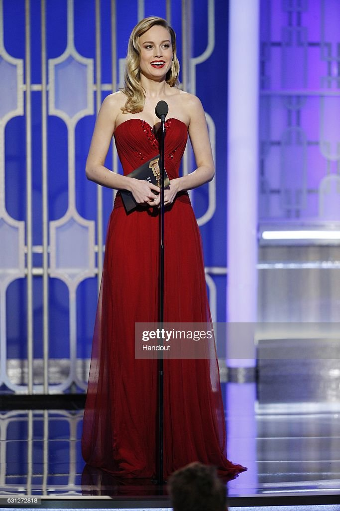 In this handout photo provided by NBCUniversal, presenter Brie Larson onstage during the 74th Annual Golden Globe Awards at The Beverly Hilton Hotel on January 8, 2017 in Beverly Hills, California.