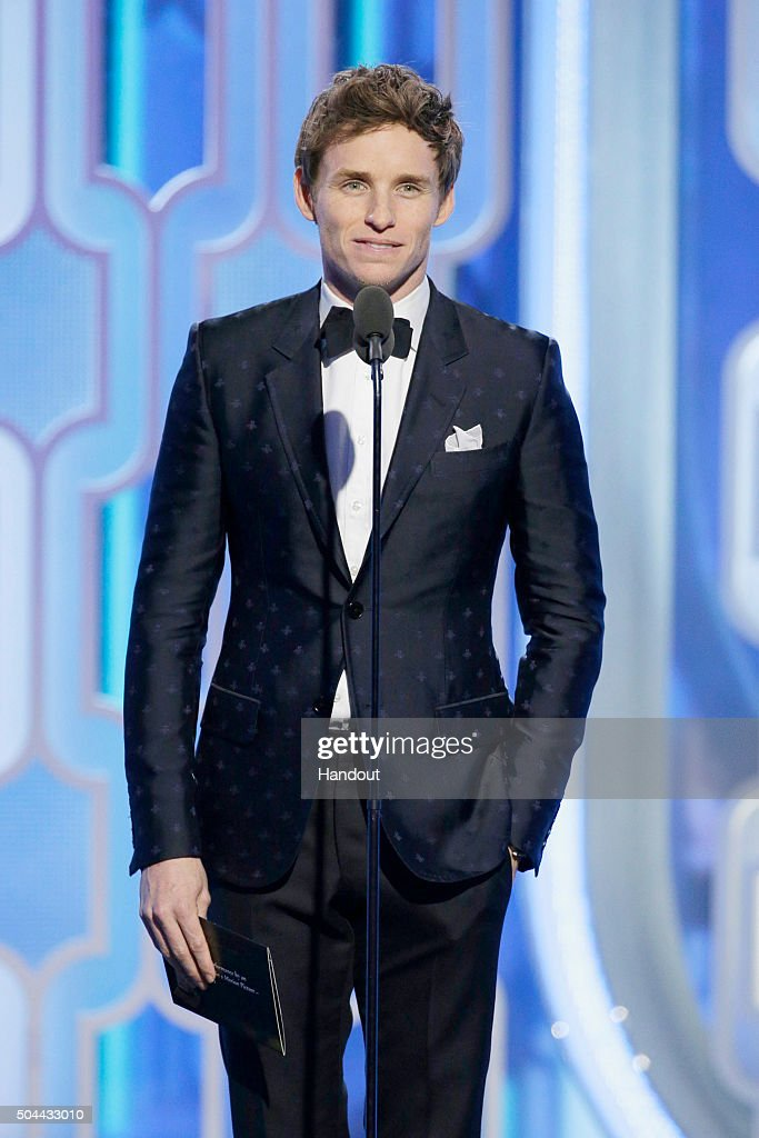 In this handout photo provided by NBCUniversal, Presenter Eddie Redmayne speaks during the 73rd Annual Golden Globe Awards at The Beverly Hilton Hotel on January 10, 2016 in Beverly Hills, California.