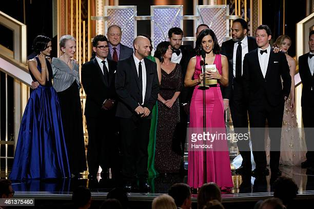 In this handout photo provided by NBCUniversal Sarah Treem accepts the award for Best TV Series Drama for The Affair onstage during the 72nd Annual...