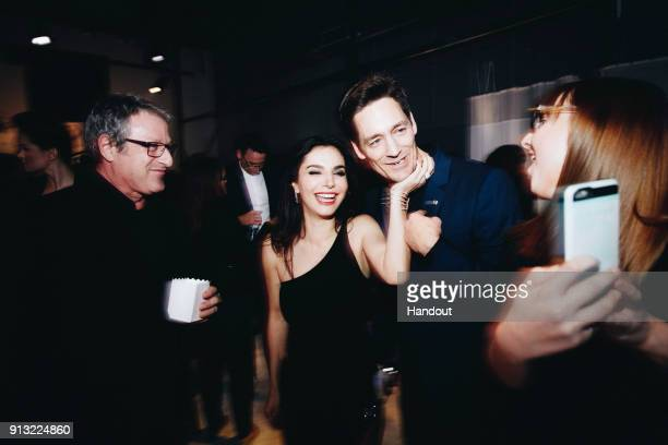 In this handout photo provided by Netflix actors Chris Conner and Martha Higareda attend the World Premiere of the Netflix Original Series 'Altered...