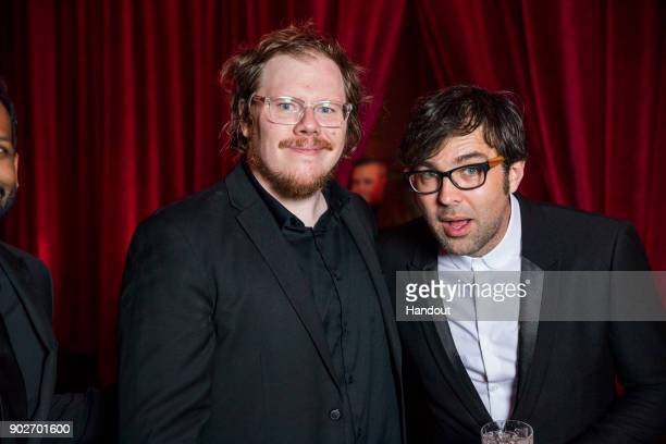 In this handout photo provided by Netflix Ben York Jones and Michael Mohan attend the Netflix Golden Globes after party at Waldorf Astoria Beverly...