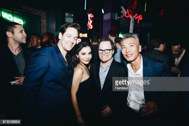 In this handout photo provided by Netflix Chris Conner Martha Higareda James Middleton and Hiro Kanagawa attend the World Premiere of the Netflix...