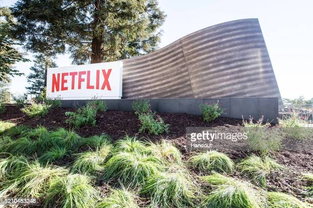 In this handout photo provided by Netflix, is a view of Netflix's headquarters located in Los Gatos on April 20, 2020 in Los Gatos, California.