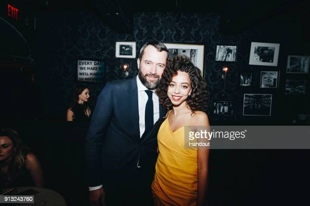 "In this handout photo provided by Netflix, James Purefoy and Hayley Law attend the World Premiere of the Netflix Original Series ""Altered Carbon"" on..."