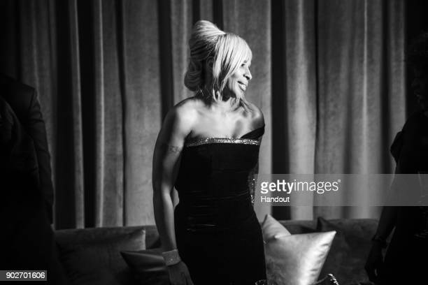 In this handout photo provided by Netflix Mary J Blige attends the Netflix Golden Globes after party at Waldorf Astoria Beverly Hills on January 7...