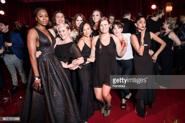 In this handout photo provided by Netflix Sydelle Noel Brittany Young Alison Brie Kate Nash Britt Baron Ellen Wong Marianna Palka Jackie Tohn and...