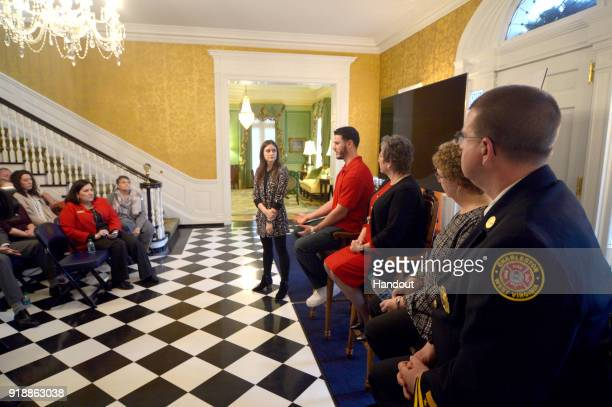 In this handout photo provided by Netflix, the panel answers questions at the Governor's Mansion at a screening of the Oscar-nominated documentary...