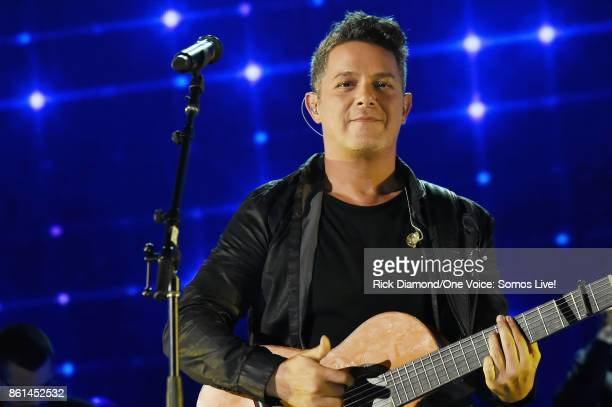 In this handout photo provided by One Voice Somos Live Alejandro Sanz performs onstage at One Voice Somos Live A Concert For Disaster Relief at...