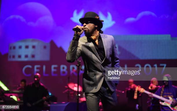 In this handout photo provided by Paisley Park Studios Andre Cymone performs with New Power Generation during Paisley Park's Celebration 2017...