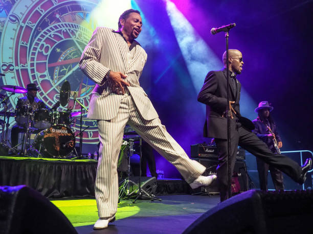 In this handout photo provided by Paisley Park Studios, Morris Day and The Time perform during Paisley Park's Celebration 2017 honoring Prince at...