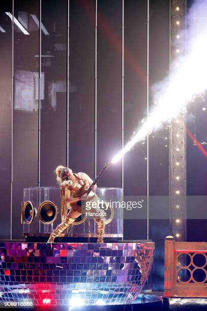 In this handout photo provided by Paramount Network a Cirque du Soleil Michael Jackson ONE dancer performs onstage during Lip Sync Battle Live A...