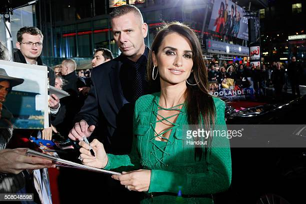In this handout photo provided by Paramount Pictures Actress Penelope Cruz attends the Berlin fan screening of the Paramount Pictures film 'Zoolander...