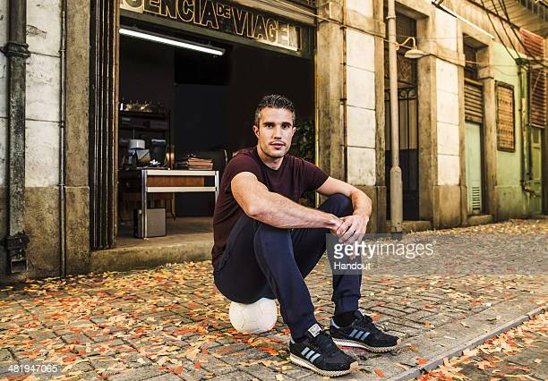 In this handout photo provided by Pepsi on April 2 Robin van Persie is pictured on the set of Pepsi's new global commercial and interactive film 'NOW...
