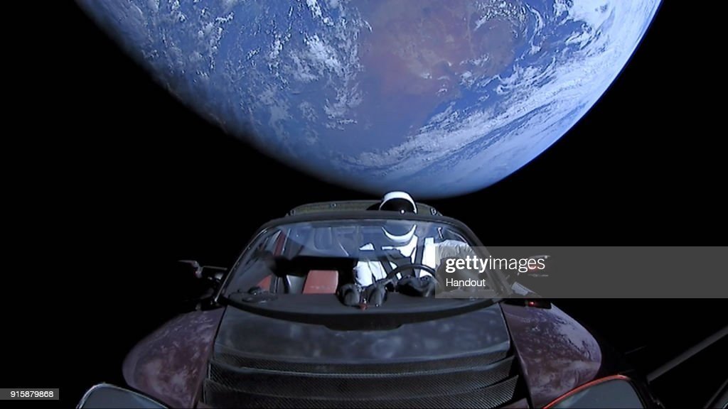 SpaceX Launches Tesla Roadster Into Space : News Photo