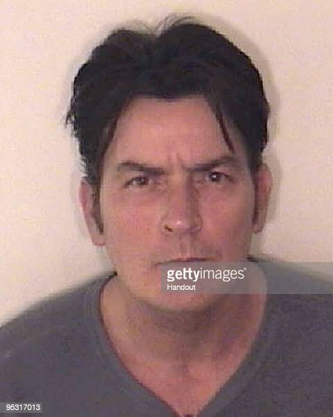 In this handout photo provided by the Aspen Police Department Charlie Sheen is pictured after being arrested on December 25 2009 in Aspen Colorado...