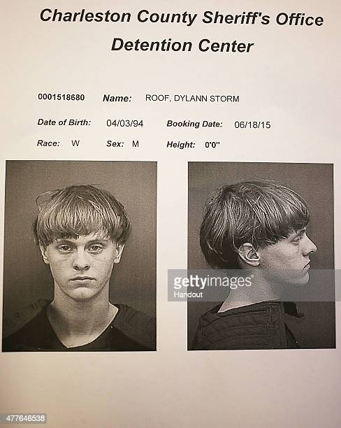 In this handout photo provided by the Charleston County Sheriff's Office Detention Center Dylann Storm Roof is seen in his booking photo after he was...