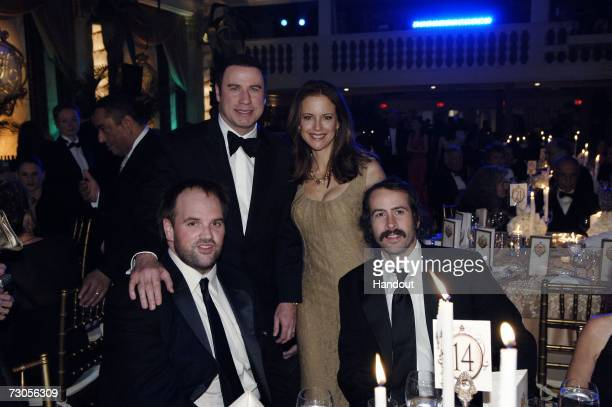 In this handout photo provided by the Church of Scientology actors Ethan Suplee John Travolta Kelly Preston and Jason Lee attend the 80th anniversary...