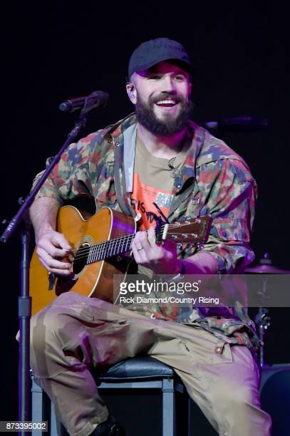 In this handout photo provided by The Country Rising Fund of The Community Foundation of Middle Tennessee singer Sam Hunt performs onstage for the...