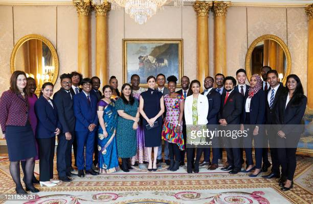 In this handout photo provided by the Duke and Duchess of Sussex Meghan Duchess of Sussex Patron of the Association of Commonwealth Universities...