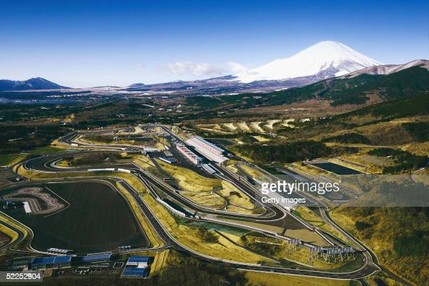In this Handout Photo provided by the Fuji International Speedway the fully renewed fuji speedway is pictured with Mt Fuji in the background The...