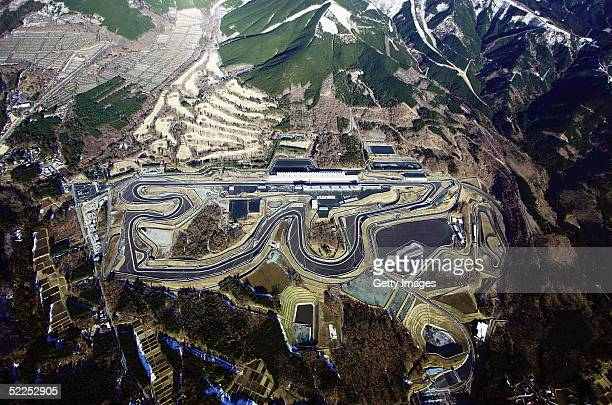 In this Handout Photo provided by the Fuji International Speedway, the fully renewed fuji speedway is pictured from the air. The International...
