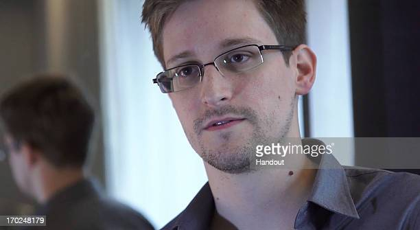 In this handout photo provided by The Guardian Edward Snowden speaks during an interview in Hong Kong Snowden a 29yearold former technical assistant...