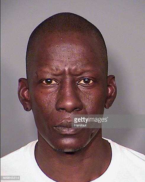 In this handout photo provided by the Las Vegas Metropolitan Police rapper Darnell Carlton AKA Crunchy Black formerly of Three 6 Mafia is seen in a...
