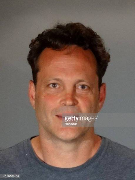 In this handout photo provided by the Manhattan Beach Police Department, actor Vince Vaughn is seen in a police booking photo after his arrest on...
