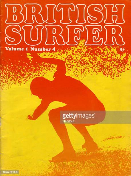 In this handout photo provided by the Museum of British Surfing, A copy of the 1969 British Surfer Magazine held by the Museum of British Surfing is...