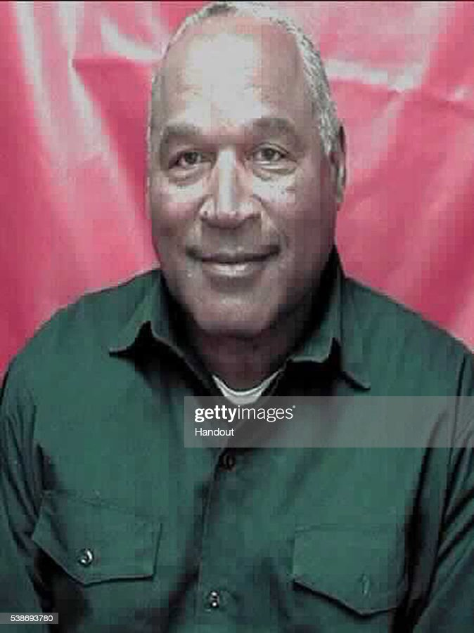 In this handout photo provided by the Nevada Department of Corrections, former football player O.J. Simpson, 68, is seen in an updated Nevada Department of Corrections booking photo released June 6, 2016 in Lovelock, Nevada. Simpson is serving a nine to 33 year prison term for a 2007 armed robbery and kidnapping conviction and is eligible for parole in 2017.