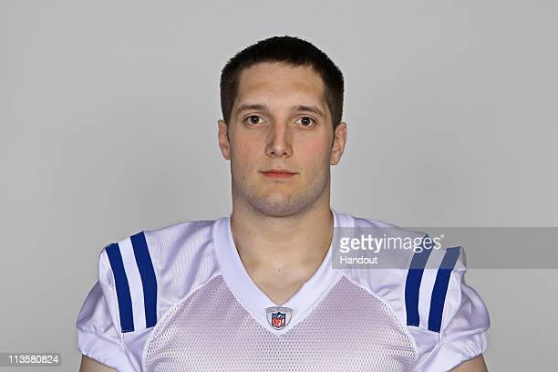 In this handout photo provided by the NFL Jeff Linkenbach of the Indianapolis Colts poses for his 2010 NFL headshot circa 2010 in Indianapolis Indiana