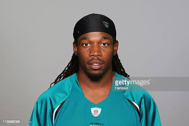 In this handout photo provided by the NFL,Rashean Mathis of the Jacksonville Jaguars poses for his 2010 NFL headshot circa 2010 in Jacksonville,...