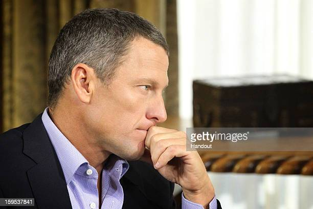 In this handout photo provided by the Oprah Winfrey Network, Oprah Winfrey speaks with Lance Armstrong during an interview regarding the controversy...