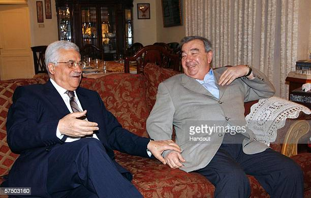 In this handout photo provided by the Palestinian Press Office , Former Prime Minister of Russia Yevgeny Primakov meets with Palestinian President...