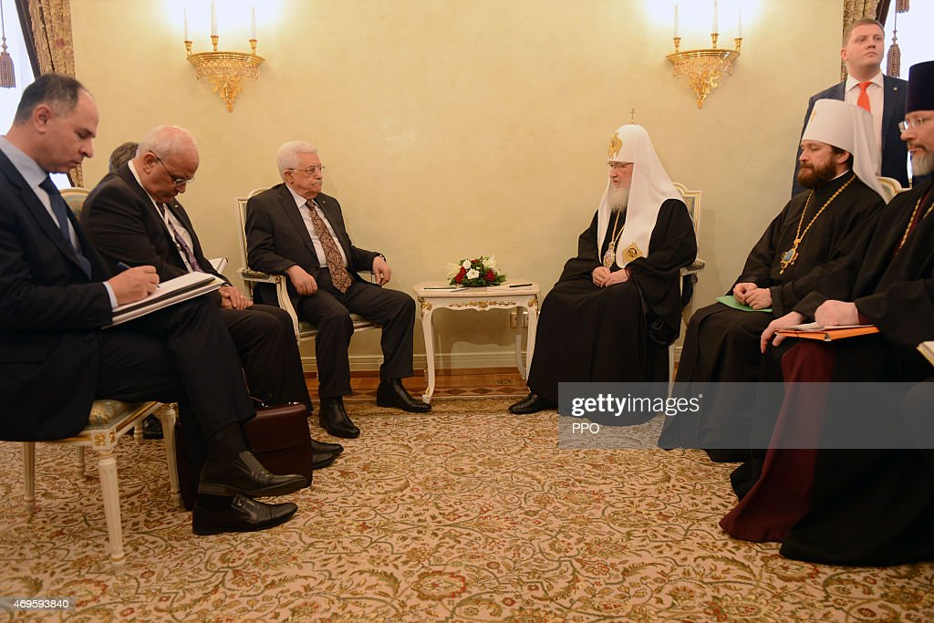 Palestinian President Mahmoud Abbas In Moscow