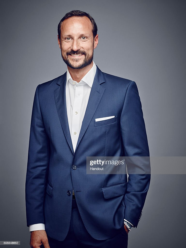 In this handout photo provided by the Royal Court, Crown Prince Haakon of Norway poses for an official photograph from the Royal Court on January 15, 2016 in Oslo, Norway.